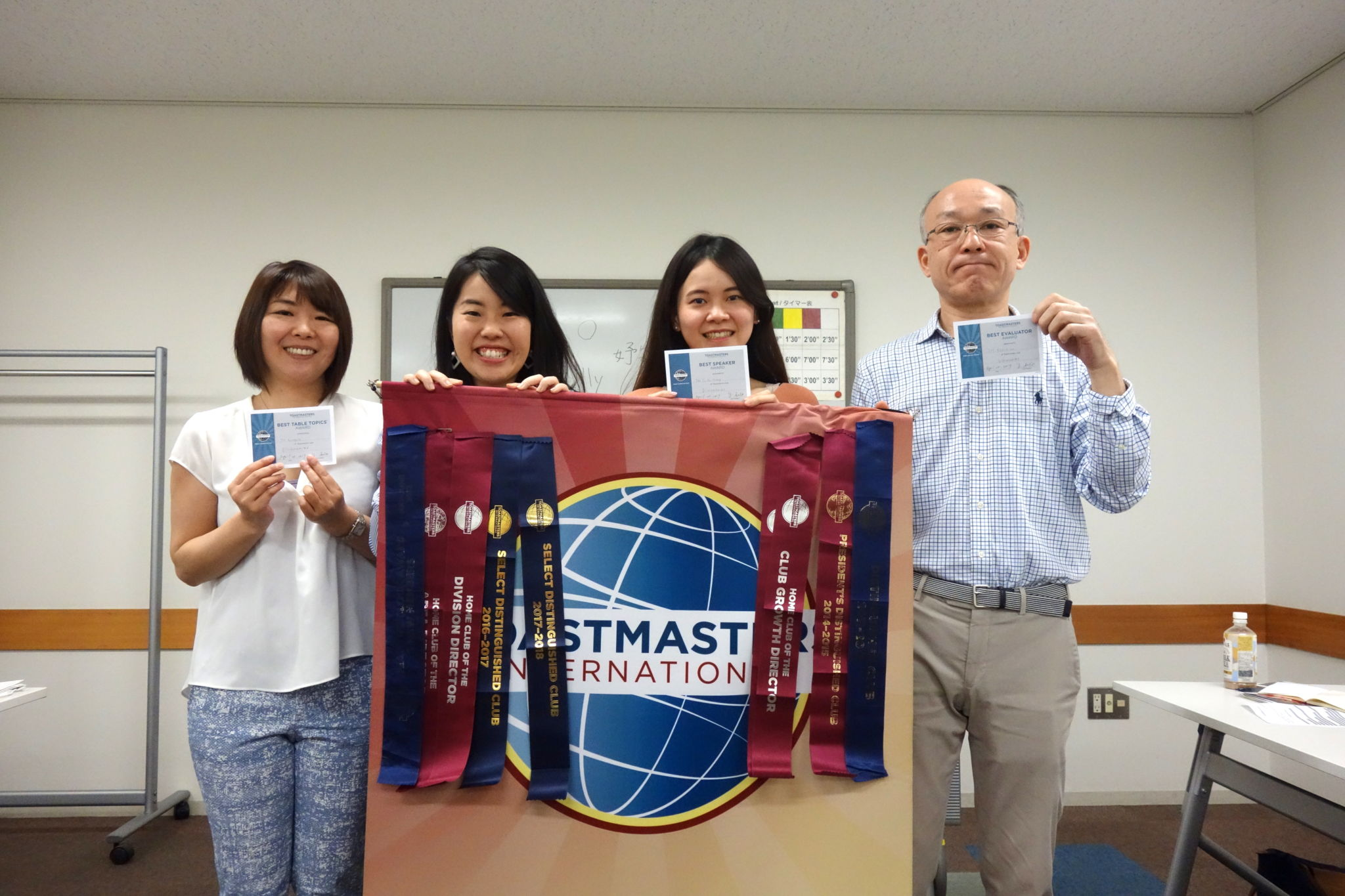 Award session of Kawasakishi toastmasters club